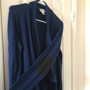 Stylus Blue Cardigan with Patched Elbows